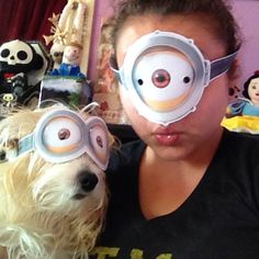 #JustAddGoggles Photo by @chuckyfied. Doggie Minion!
