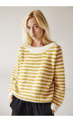 Charlotte Sometime pull jaune stripes