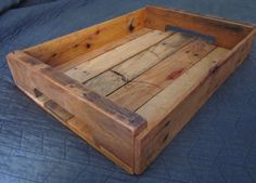 Reclaimed Wooden Serving Tray Handcrafted by TheCraftsmansHands