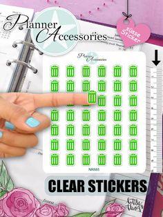 Symbole - Clear Sticker Tonne NR885 - ein Designerstück von PlannerAccessories bei DaWanda