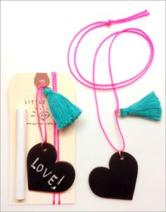 chalkboard heart necklace