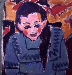 Ernst Ludwig Kirchner - Mädchenporträt (1910)