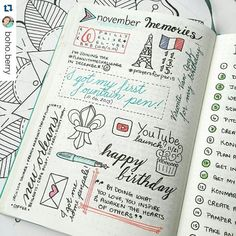 "I love seeing this page in action.. So pretty!  #Repost @boho.berry ・・・ #planwithmechallenge Day 30: Wrapping Up  Holy cow you guys, November went by SO fast! I just finished wrapping up my ""November Memories"" page inspired by the lovely Kacheri @passionthemedlife  This was such a fun page to work on throughout the month and definitely one that has earned a full time spot in my monthly #bulletjournal set-up! ✌️"
