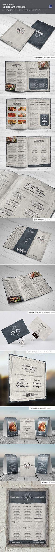 Sailor Restaurant Package Menu PSD Template #design Download: http://graphicriver.net/item/sailor-restaurant-package/13046237?ref=ksioks