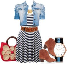 """""""casual stripes"""" by sarah-adams-barbo ❤ liked on Polyvore"""