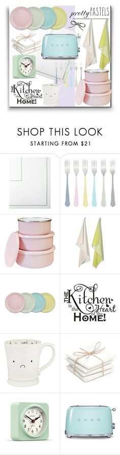 """""""ColorChallenge: Pastel Kitchen"""" by parkersam76 ❤ liked on Polyvore featuring interior, interiors, interior design, home, home decor, interior decorating, canvas, Reston Lloyd, HAY and Biltmore"""