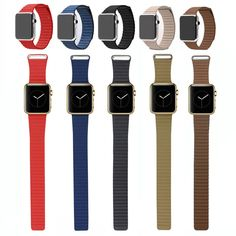 Genuine Leather Loop Band Strap Magnetic Buckle For Apple Watch 42 38 iWatch 2 1 Apple Watch 42, Apple Watch Series, Iwatch 2, Leather Watch Bands, Smart Watch, Magnets, Stainless Steel, Best Deals, Type