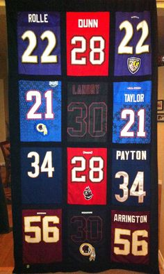 Sports Memory-T-shirt Quilt. Use Jerseys to create.