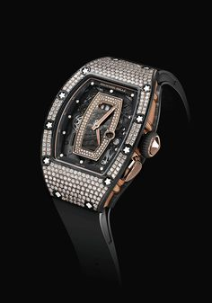 Richard Mille RM 07-01 and RM 037 Ladies' Watches With Gem-Set NTPT Carbon #watch #時計