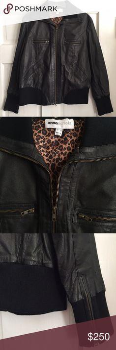 Gap brown faux leather flight jacket w/fleece 5T | Leather flight ...