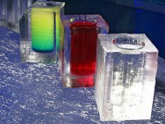 Ice Glasses at a bar in Sweden. Neat :)