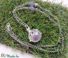 Angyalhívó nyaklánc lila színű csengővel, angelit ásvánnyal - Meska.hu Pendant Necklace, Jewelry, Fashion, Lilac, Moda, Jewlery, Jewerly, Fashion Styles, Schmuck