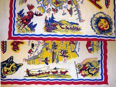 Vintage Souvenir Tablecloth  Alaska  1950s by KitschyVintageLoveIt, $25.00