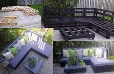 Дачная мебель своими руками / Нам всем нравится на даче не полоть помидоры и копать картошку, а именно отдыхать. Мы и разговаривая…