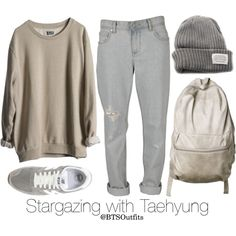 Stargazing with Taehyung by btsoutfits on Polyvore featuring moda, Insight 51, New Balance, MTWTFSS Weekday and V AVE SHOE REPAIR