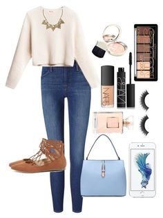 """Walk in the park with bæ"" by lovelykitteh ❤ liked on Polyvore featuring moda, Frame Denim, Liliana, Banana Republic, By Terry e NARS Cosmetics"