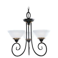 3-light Chandelier in Gold Patina  3138-85