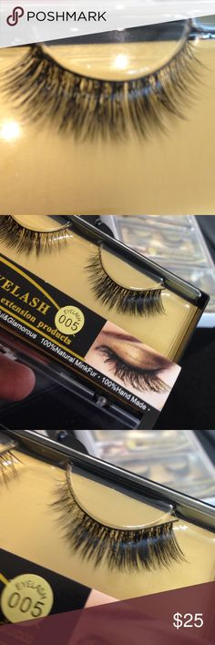 100% MINK HAIR Lashes extensions Brand New in case 100% Real MINK look like a celebrity don't be fooled by others these are Real MINK hand made if your a lash wearer MINK Lashes last you can re-use and they are light weight. This are brand New Sold at my Retail stores Tess Beauty Supply Milwaukee 25 years on business 5 years on posh im a real hair store look at my reviews all 5 star ratings these lashes are brand new with case soft MINK Lashes you can reuse your going to love these only at…