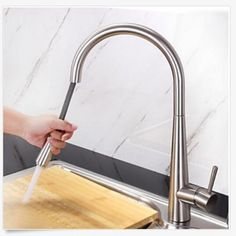 Luxury Dual Sprayer Nozzle Kitchen Sink Mixer Taps Single Lever Impressive Brushed Nickel Kitchen Faucet Inspiration