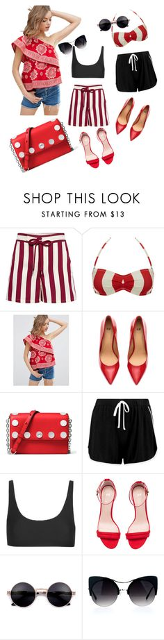 """""""Untitled #3452"""" by sweetyincago ❤ liked on Polyvore featuring RED Valentino, Solid & Striped, ASOS, H&M, MICHAEL Michael Kors, Boohoo and Topshop"""