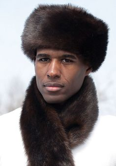 Men s Sable Faux Fur Russian-Style Hat  b3ee1d65f360