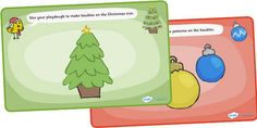 Christmas play dough mats. - Re-pinned by @PediaStaff – Please Visit http://ht.ly/63sNt for all our pediatric therapy pins