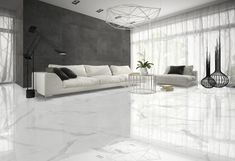 40 Stunning and Clean White Marble Floor Living Room Design Living Room Flooring, Living Room Tv, Home Room Design, Living Room Designs, Floor Design, Interior Design, White Marble Flooring, Italian Marble Flooring, Calacatta