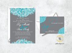 Custom Wedding Invitation Set Including by TheWhiteInvite on Etsy, $3.00