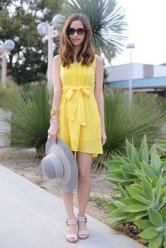 yellow sundress  - popculturez.com perfect wonder if the have red orange and aqua...