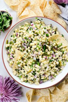 Chipotle's Sweet Corn Salsa – Simply Scratch – For Pregnant Women Mexican Food Recipes, Vegetarian Recipes, Cooking Recipes, Healthy Recipes, Sweet Corn Recipes, Appetizer Recipes, Dinner Recipes, Appetizers, Fondue Recipes