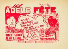 Adele Fete by Atelier Populaire (1968) | Shop original vintage posters online: www.internationalposter.com