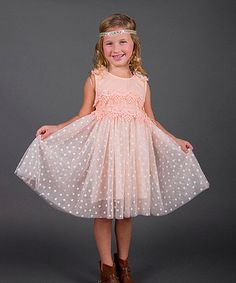 Loving this Pink Polka Dot Mesh Dress - Toddler & Girls on #zulily! #zulilyfinds