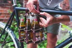 Organic and locally made: The fixie bike beer holder (above) is another hipster invention...