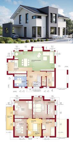 Modern House Floor Plans, Sims House Plans, Family House Plans, Contemporary House Plans, New House Plans, Dream House Plans, House Plans With Garage, Modern Home Plans, Home Floor Plans