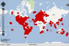World map of Occupy Movements, October 2011