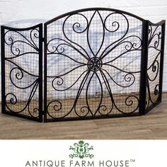 #Swoon on this #Beautiful #Fireplace #Screen adds so much to a #Fireplace