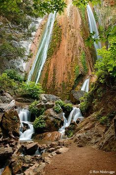 Waterfall in Limekiln State Park, Big Sur, California