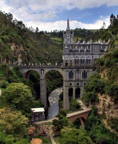 Sweet medieval style cathedral in Pasto, Colombia. Las Lajas - Imgur