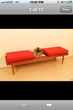 great mid century modern bench! Modern Bench, Mid-century Modern, Mid Century Coffee Table, Pub Set, Counter Height Table, Outdoor Furniture, Outdoor Decor, Sun Lounger, Gallery