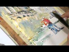 Watercolor painting Pula