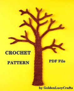 Tree Applique Crochet Pattern | YouCanMakeThis.com