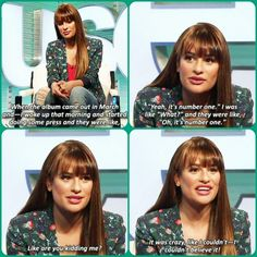 Lea Michele on her album release! Cute!