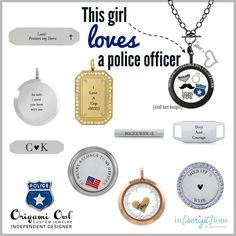 Do you love a police officer? Create a locket that shows your love and support for the officer in your life!
