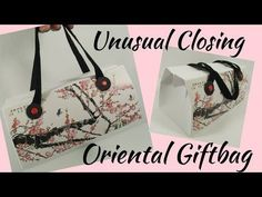 Hello everyone and happy Friday :) Today I have these Mini Oriental Gift Bags. I originally made this style gift bag back in June 2017 and have since had lots of people ask if I could make a smaller version. Last years bigger version. https://www.youtube.com/watch?v=yx55E0Sr13w I really like the self-closing mechanism. I have made 3…
