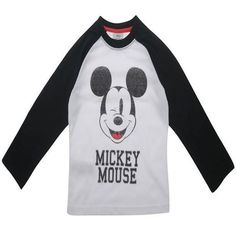 Boys Licensed Disney Mickey Mouse Retro Style Long Sleeve T Shirt