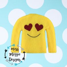 Heart eyes ITH doll shirt embroidery design file