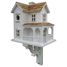 Features:  -Bracket included.  -Birdhouse.  -Has intricate details including window box trim, miniature birdhouses and multiple roof lines.  -Comes with a removable back wall for easy cleaning.  -Clas