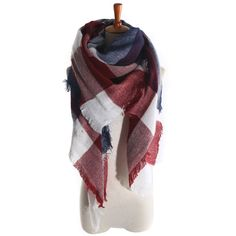 Color Block Scarf in Brown & Dark Green, 21% discount @ PatPat Mom Baby Shopping App