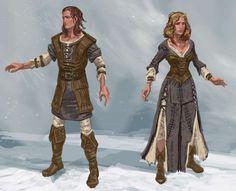 Farmer Clothes Front concept art from The Elder Scrolls V: Skyrim by Adam Adamowicz