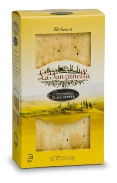 Traditional La Panzanella Black Pepper Croccantini Box, 5.5-Ounce Boxes (Pack of 12), ,